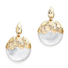 Rental Alexis Bittar Molten Lucite Earrings ($50) ❤ liked on Polyvore featuring jewelry, earrings, gold, acrylic jewelry, alexis bittar, long earrings, alexis bittar jewelry and long clip on earrings