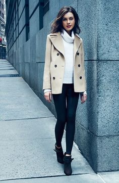 Timeless and classic camel peacoat for fall travels / the love assembly