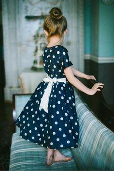 polkadot dress.