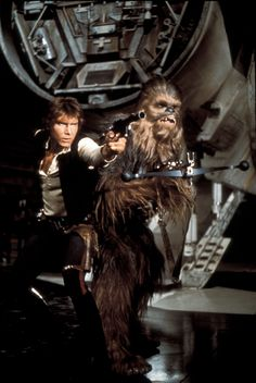 Harrison Ford and Peter Mayhew as the voice for Chewbacca Star Wars 1977 Star Wars I, Film Star Wars, Star Wars Gifts, Star Wars Poster, Images Star Wars, Star Wars Pictures, Harrison Ford, Disney Pixar, Anniversaire Star Wars