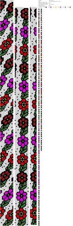 Схема плетения жгута из бисера & Driving braid beads