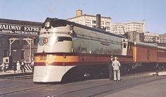 """Four modern atlantic type locomotives were purchased in 1935 to power a high speed train named the """"Hiawatha"""" between Chicago and St. Paul/Minneapolis. These were the first steam locomotives to be built streamlined. They were also the first steam locomotives intended to cruise at 100 mph (they could reach 120 mph)."""