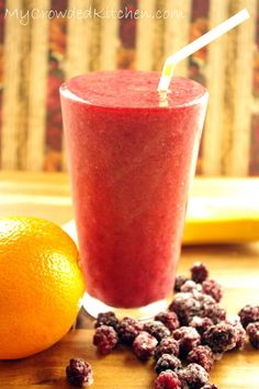 Iced Orange Blackberry Smoothie Recipe