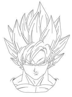 Dibujos De Dragon Ball Z Con Goku Para Imprimir Con Imagenes