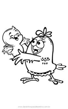 Resultado de imagen para desenhos para colorir e imprimir da turma da galinha pintadinha