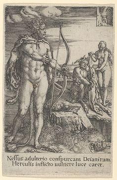 Hercules Killing Nessus, from The Labors of Hercules (1550)