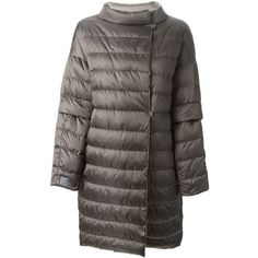 'S Max Mara Reversible Padded Coat (€560) ❤ liked on Polyvore featuring outerwear, coats, grey, gray coat, padded coat, grey coat, feather coat i reversible coat