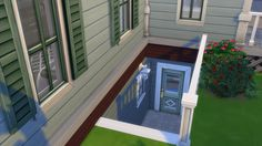 Sims 4 Basement Outdoor Entryway More