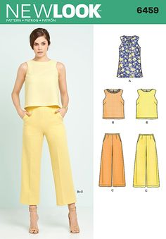 New Look Misses' Tunic or Top and Cropped Pants 6459