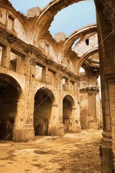 Ruinas de Belchite,Zaragoza, bombardeado en la guerra civil española.