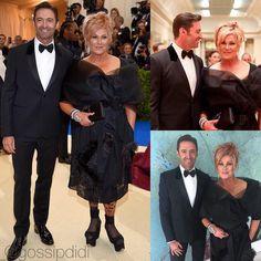 """На MetGala2017��Сама """"разводящаяся"""" пара Голливуда! Вот уже сто раз разводили, а они вместе��Хью Джекман опять опроверг, уже даже с матными словами, слухи о очередном разводе! Они не разводятся! Любовь 61-летней Деборы и 48-летнего Хью-вечная! ✌����⭐️#hughjackman…"""