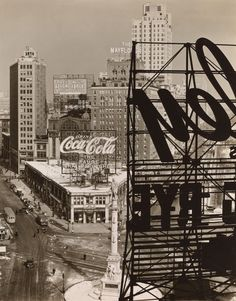 Columbus Circle, Manhattan, 1938, by Berenice Abbott - 20x200 (from $24):