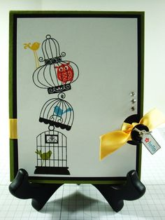 pinterest stampin up easter card ideas   stampin up aviary card ideas - Google Search