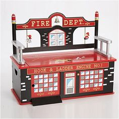 Levels of Discovery Firefighter Kid's Bench | Wayfair