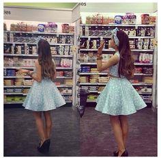 Ariana Grande shopping in the cutest dress