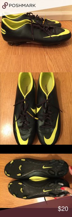 Nike Cleats Worn once, like new Nike cleats. Size 11, men's neon!! 💡💡 Nike Shoes Athletic Shoes