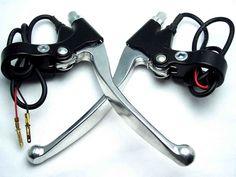 Aluminio 1 par palanca de freno para eléctrica vespa de la bici