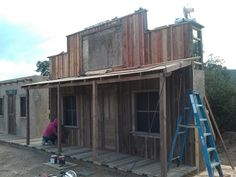 Building An Old Western Ghost Town General Store Facade Part 2 - YouTube