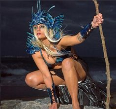 Eden Sirene in her Lionfish costume, made by Organic Armor