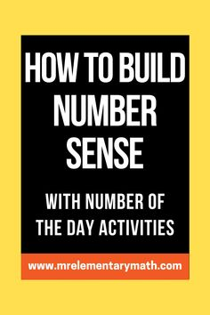Interactive Number of the Day activities for building number sense. Great for math warm ups! Number Sense Activities, Classroom Routines, Math Manipulatives, Word Pictures, Elementary Teacher, Teaching Tips, Worksheets, Remote, Told You So