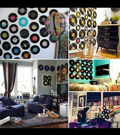 Vinyl Record Wall Art Great For A Dorm Room
