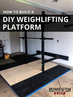 guide to build your own DIY weightlifting platform for deadlifts, squats, p. - Home Gym Build -Easy guide to build your own DIY weightlifting platform for deadlifts, squats, p. - Home Gym Build - Garage Gym Ideas for your Home Gym Home Gym Basement, Home Gym Garage, Diy Home Gym, Home Gym Decor, Gym Room At Home, Home Gyms, Weightlifting Platform, Weightlifting Gym, Powerlifting