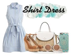"""""""Shirt Dress"""" by whollychicstyles94 ❤ liked on Polyvore featuring Casetify, Milly, Kate Spade, Jimmy Choo, House of Holland, Carolee and shirtdress"""