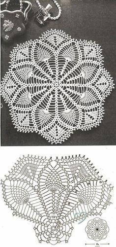 Resultado de imagen para crochet doily in pineapple pattern Filet Crochet, Crochet Doily Diagram, Crochet Doily Patterns, Crochet Chart, Thread Crochet, Crochet Motif, Crochet Designs, Crochet Stitches, Crochet Coaster