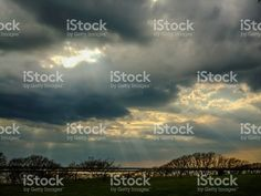 sun with sky and clouds royalty-free stock photo