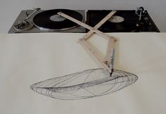 Music is Art, something I think would be cool to look at along with the tree trunk turn table idea...