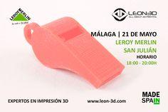 Taller de impresión 3D Leroy Merlin San Julián (Málaga)