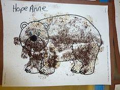 brown bear craft - coffee