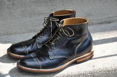 viberg navy shell cordovan stitchdown service boots - Imgur