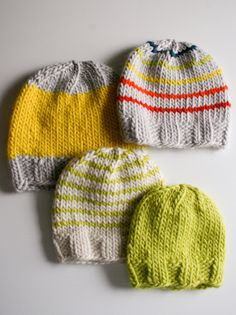 Whit's Knits: Super Soft Merino Hats for Everyone! - Knitting Crochet Sewing Crafts Patterns and Ideas! - the purl bee
