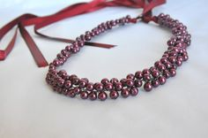 Handmade Weddings Wine Glass Pearls   by HMbySemraAscioglu on Etsy, $44.00
