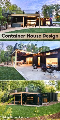 Shipping Container Cabin, Outdoor Ideas, Outdoor Decor, Container Buildings, Container House Design, Tiny Homes, Cabins, Wood Projects, Luxury Homes