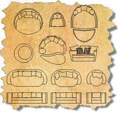 Outdoor CAD Furniture Blocks | AutoCAD Outdoor Furniture Symbols | CAD Outdoor… Furniture Logo, Furniture Layout, Furniture Design, Office Interior Design, Interior Decorating, Cad Symbol, Ceiling Plan, Drawing Interior, Dream House Interior