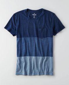 AEO Indigo Graphic Crew T-Shirt, Men's