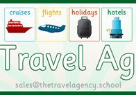 Role Play Travel Agency Poster: Great centre display (Pre-K to 4th grade)