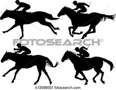 Editable vector silhouettes of racing horses with horses and jockeys as separate objects Poster. My Old Kentucky Home, Kentucky Derby, Renn Kuchen, Horse Cookies, Record Crafts, Horse Birthday, Birthday Cake, Conversational Prints, Horse Posters