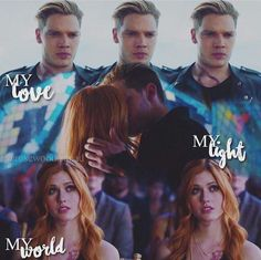 Jace et Clary Clary Und Jace, Clary Fray, Series Movies, Tv Series, Dominic Sherwood, Jace Wayland, Shadowhunters The Mortal Instruments, Jamie Campbell Bower, Clace