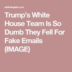 Trump's White House Team Is So Dumb They Fell For Fake Emails (IMAGE)