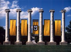 The Columns on Francis Quadrangle. University of Missouri, Columbia MO.