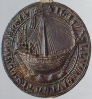 Elbing 1350 seal with cog.