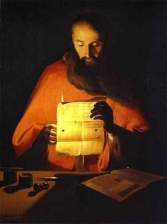 St. Jerome Reading.c.1649 by Georges de la Tour