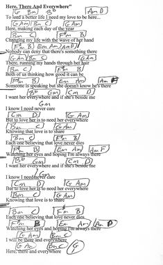 Here, There and Everywhere (Beatles) Guitar Chord Chart - http://www.youtube.com/munsonmusiclive
