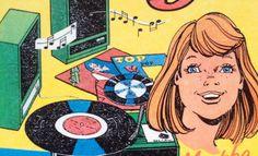 Vintage 'Jinty' comic detail, ca. 1970s
