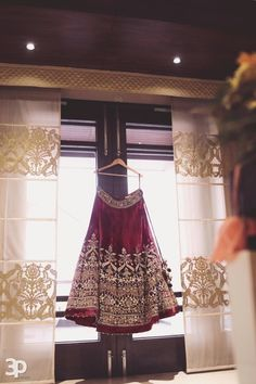Bridal Wear - Marsala and Gold Embroidered Velvet Lehenga | WedMeGood #wedmegood #indianbride #indianwedding #lehenga #bridal #velvet #indianlehenga #marsala