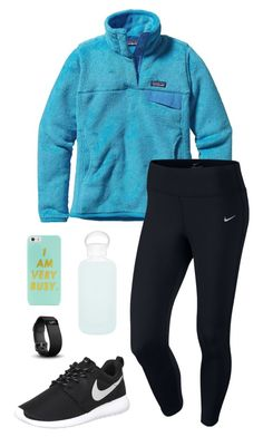 """You don't you're beautiful"" by toonceyb ❤ liked on Polyvore featuring Patagonia, NIKE, bkr, BaubleBar and Fitbit"