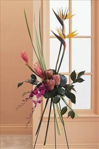 Linear Easel Spray sympathy flowers, floral, arrangements, bouquet, roses, bereavement, funeral flowers